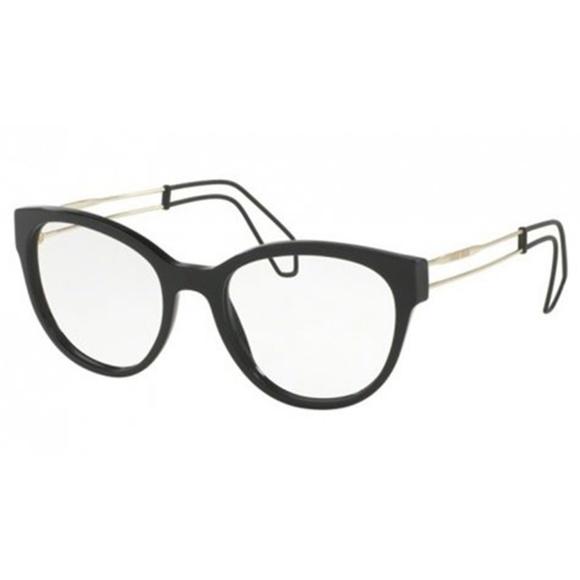 2470f50f89ea Miu Miu Cat Eye Black Eyeglasses